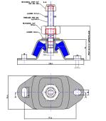 Motorlabb Type S3-45 Galvanisert m/Bolt M20