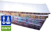 Lydfelleskum 2cm m/folie 50x100 cm