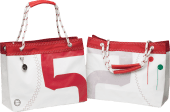 Trend Marine Sea Wave Shopping bag hvit/Rød