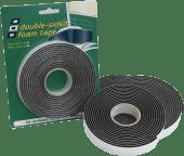 Tetningslist vinyl tosidig 19x3mm L3m Sort