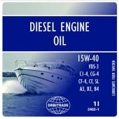 Orbitrade Diesel motorolje 15w40, 1L - 2402-1