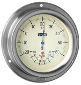 Termo/hygrometer 125mm Rustfritt Stål
