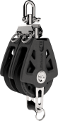 Lewmar Sync blokk 50mm dobbel m/svivel og  hundsvott