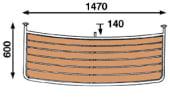 Båtsystem Badeplattform Motorbåt PM14060