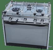 Techimpex komfyr Mariner 3-bluss og grill