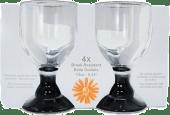 Glass akryl vin m/stett 0,4 liter 4pk
