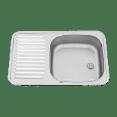 Vask Stål m/Benkebeslag 590x370mm
