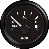 KUS Fuel Instrument 0-190 Sort/Sort