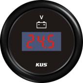 KUS Digitalt Voltmeter 8-32 Sort/Sort