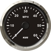 KUS fartsmåler NMEA2000 0-60 sort