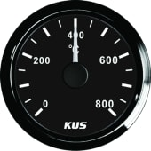 KUS Eksostemperaturmåler 0-800gr Sort/sort