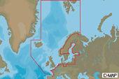C-Map Max-N+ W: Nordlige Europa Svalbard Shetland