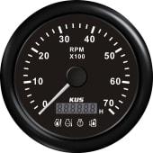 Kus turteller 7K (1,0-10) m/4 Led alarmer:sort/sort