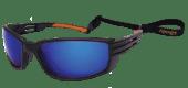 Solbriller flytende blått glass