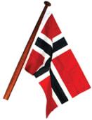 Flaggstang Mahogny 90 Cm