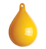 Garnblåse 15cm mykplast gul