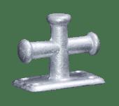Krysspullert galvanisert Enkel 140X80mm