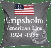Putetrekk American Line grå 50x50
