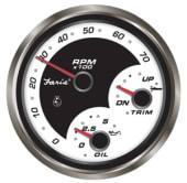 Faria Legacy Turtall/Trim/Oljetrykk Instrument