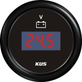 Kus digitalt voltmeter 8-32 Sort/Sort