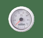 KUS Turteller 7K (1,0-10) m/4 LED alarmer hvit/hvit