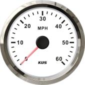KUS fartsmåler NMEA2000 0-60 hvit