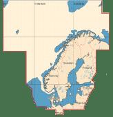 C-Map Max Mega Wide Norden (Ikke Island) Sd Brikke