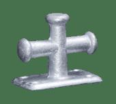Krysspullert galvanisert Enkel