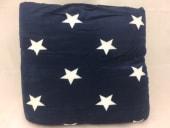 Sherpapledd blå m/hvite stjerner