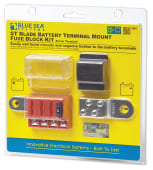 Blue Sea Batteriterminalkit for 4 sikringer