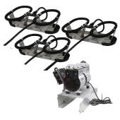 Kasco Bobleanlegg Robust-Aire 3 diffusere u/kabinett