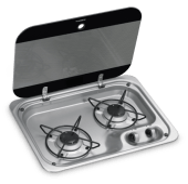 Dometic Gasskoketopp 2 Bluss med Glasslokk HBG 2335