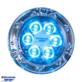 Båtsystem Aqualight Undervannslys 110mm LED Blå