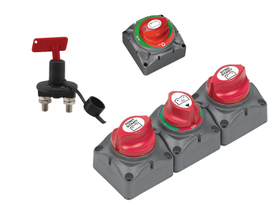 Batterivelger / hovedstrømbryter