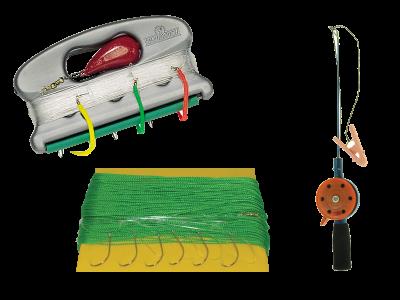 Fiskesnører og utstyr