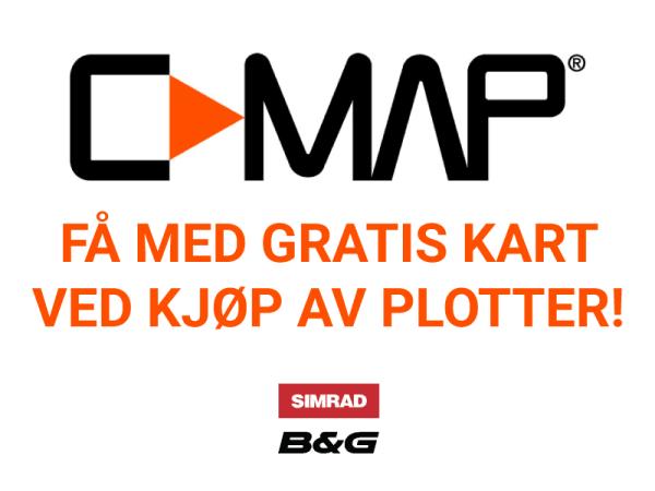 C-MAP kampanje, få med gratis kart ved kjøp av plotter