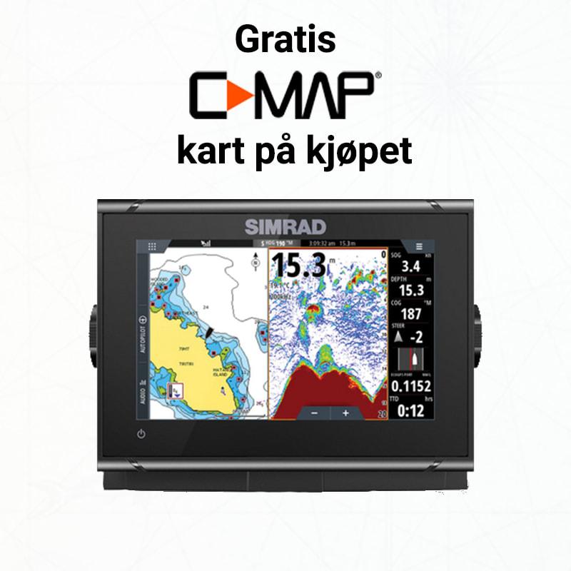 Kjøp kartplotteren, send deretter epost til salg@maritim.no så legger vi til det kartet du ønsker.