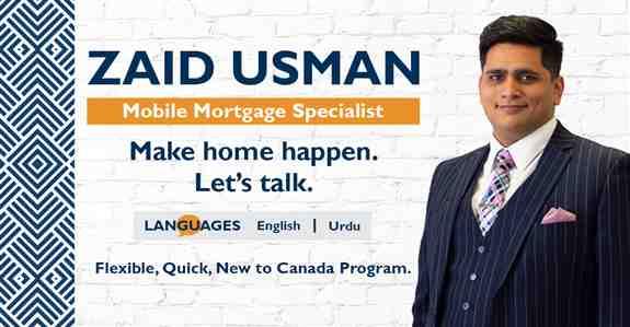 Zaid Usman, Mobile Mortgage Specialist