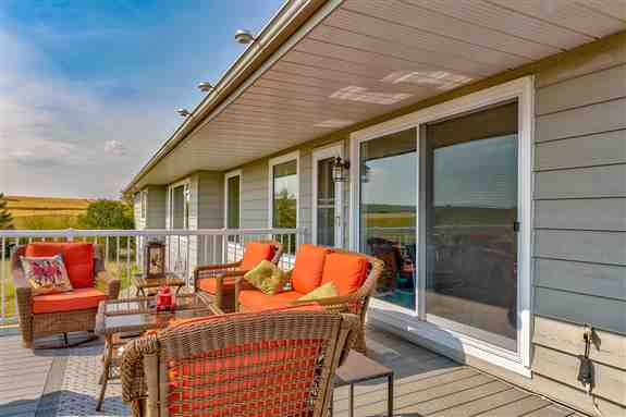 Open your home to the outside with a patio door.