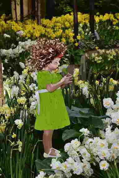 Little Girl Smelling Daisy<br />Philadelphia Flower Show 2020