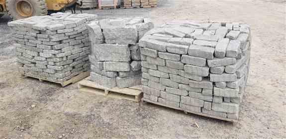 Tumbled cobblestones for retaining walls, edging, or paving