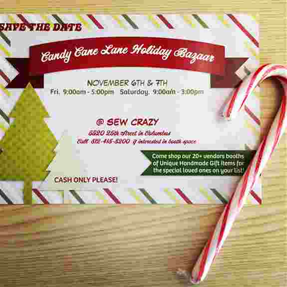 Check out our 1st Annual Candy Cane Lane Holiday Bazaar<br />5520 25th Street in Columbus 812-418-8200<br />We do have 4 booth spaces still available!!