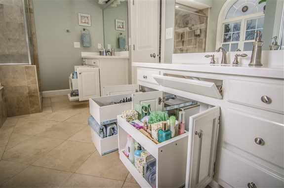 Bathroom and under the sink solutions for storage