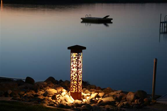 Waconia Residence, Custom Low Voltage Tower/Column Light