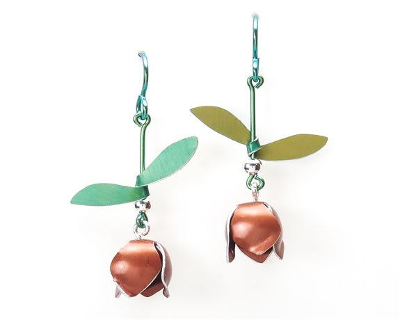 Pomegranate Bud Earrings<br />$59