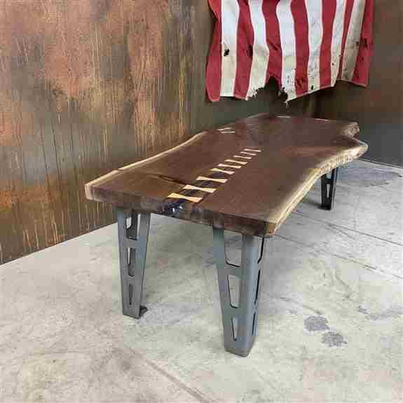 Urban salvaged black walnut coffee table.