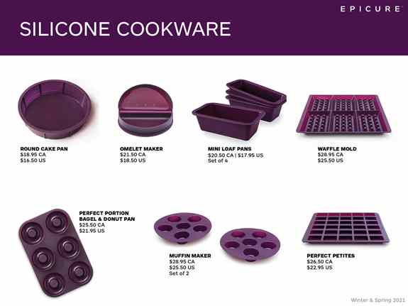 Our silicone cookware can save you time and energy, helping you make a meal in minutes.  I can show you how.