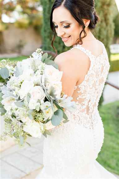 Our beautiful bride hair her makeup and hair done by our Platinum level artists.