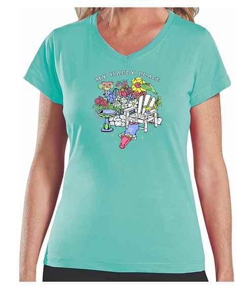 My Happy Place (gsrden 2020)<br /><br />L.A.T. Ladies V-Neck T-Shirt