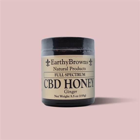 500 mg Full Spectrum CBD honey (5.5oz) in ginger flavor $45